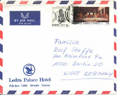 Cyprus Republic Air Mail Cover Sent To Germany 1982 - Cartas