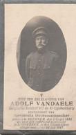 ABL, Vandaele , Beernem 1881 - Adinkerke 1917 - Obituary Notices