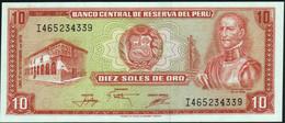 ♛ PERU' - 10 Soles De Oro 17.11.1976 UNC P.112 - Perù
