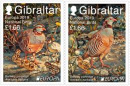 EUROPA CEPT - 2019 - Gibraltar - (National Birds) ** MNH - 2019