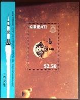 Kiribati 1989 Moon Landing Anniversary Minisheet MNH - Kiribati (1979-...)