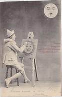 BERGERET Portrait De La Lune Pierrot ( Peintre ..) - Bergeret