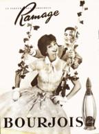 "PUB PARFUM  "" CHAMADE  "" De  "" BOURJOIS  ""   1958  ( 1 ) - Other"