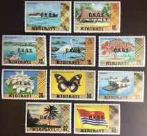 Kiribati 1981 Official Set With Watermark Birds Butterflies Flowers MNH Scarce! £75 - Kiribati (1979-...)
