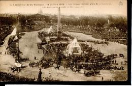 Guerre 14-18 Soldats Allies Paris Fetes De La Victoire 1919 Les Italiens Defilent Place De La Concorde - War 1914-18