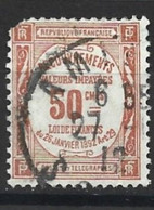 309 TIMBRE TAXE YT 47 Oblitéré Coin Gauche Endommagé Cote 70 Euros En état - 1859-1955 Usati