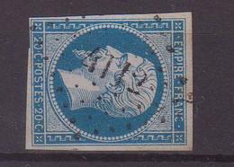 """FRANCE : PC 4112 . """" GUIGNICOURT """" . (02) . N° 14 . TB . ( CATALOGUE MATHIEU ) . - 1849-1876: Période Classique"""
