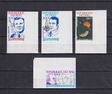 MALI 1981, Mi# 851-854, Imperf, Space, Personalities, Satellites, MNH - Mali (1959-...)