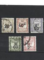 64-1-1 La Série Timbres De 1908 Surchargés YT 49-50-51-52-54 Oblitérés - 1859-1955 Usados