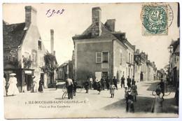 ILE-BOUCHARD-SAINT-GILLES (I.-et-L.). Place Et Rue Gambetta - L'Île-Bouchard