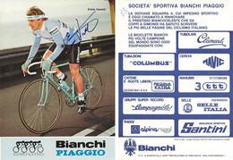 CARTE CYCLISME VALERIO PIVA SIGNEE TEAM BIANCHI 1983 - Cycling