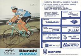 CARTE CYCLISME SERGE PARSANI TEAM BIANCHI 1983 - Cycling