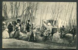 8065 RUSSIA Asia Turkestan Tashkent Cancel 1915 View Postcard Staraya Bukhara Teahouse POW WWI CENSOR To Wien Austria - Briefe U. Dokumente