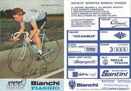 CARTE CYCLISME ERIK PEDERSEN SIGNEE TEAM BIANCHI 1983 - Cycling