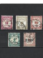 92-9 LOT De 5 Timbres Taxe 1927-1931  YT 56-57-58-60-63 Oblitérés - 1859-1955 Usados