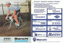 CARTE CYCLISME ALDO DONADELLO SIGNEE TEAM BIANCHI 1983 - Cycling