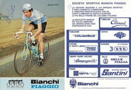 CARTE CYCLISME MAURIZIO VIOTTO SIGNEE TEAM BIANCHI 1983 - Cycling
