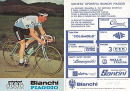 CARTE CYCLISME POL VERSCHUERE SIGNEE TEAM BIANCHI 1983 - Cycling