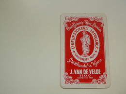 Speelkaart ( 0488 ) Dos D' Une Carte à Jouer - Wijn Vin Likeur Liqueur  Distillerie Stokerij  -  Eecloo  Eeklo - Barajas De Naipe