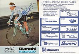 CARTE CYCLISME ENNIO VANOTTI SIGNEE TEAM BIANCHI 1983 - Cycling