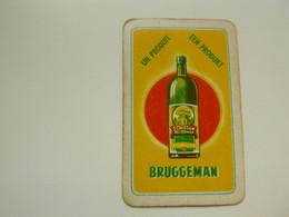 Speelkaart ( 0497 ) Dos D' Une Carte à Jouer - Wijn Vin Likeur Liqueur  Distillerie Stokerij  -  BRUGGEMAN - Barajas De Naipe