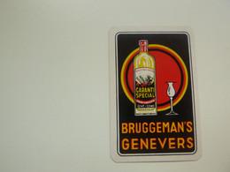 Speelkaart ( 0500 ) Dos D' Une Carte à Jouer - Wijn Vin Likeur Liqueur  Distillerie Stokerij  -  BRUGGEMAN - Barajas De Naipe