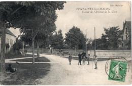 71 - FONTAINES LES CHALON - Entrée De L ' Avenue De La Gare - Altri Comuni