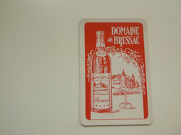 Speelkaart ( 0514 ) Dos D' Une Carte à Jouer - Wijn Vin Likeur Liqueur  Distillerie Stokerij  -  Domaine De Bressac - Barajas De Naipe