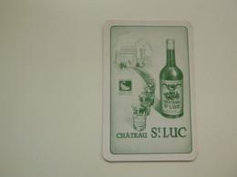 Speelkaart ( 0517 ) Dos D' Une Carte à Jouer - Wijn Vin Likeur Liqueur  Distillerie Stokerij  -  Château St. Luc - Barajas De Naipe
