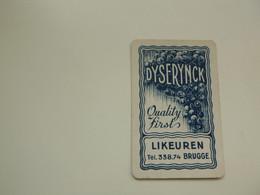 Speelkaart ( 0518 ) Dos D' Une Carte à Jouer - Wijn Vin Likeur Liqueur  Distillerie Stokerij  -  Brugge  Bruges - Barajas De Naipe