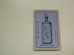 Speelkaart ( 0520 ) Dos D' Une Carte à Jouer - Wijn Vin Likeur Liqueur  Distillerie Stokerij  - E. SAUTE  Bruxelles - Barajas De Naipe