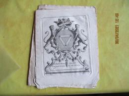 Lot De 6 Ex Libris Bibliotheque  Monguet De Sivry - Bookplates