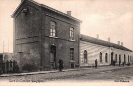 Belgique - Gare De Comines (Extérieur) - Edition Debouck - Carte Dos Simple Non Circulée - Comines-Warneton - Komen-Waasten