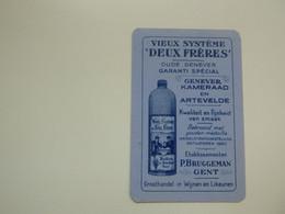 Speelkaart ( 0525 ) Dos D' Une Carte à Jouer - Wijn Vin Likeur Liqueur  Distillerie Stokerij  - BRUGGEMAN  Gent  Gand - Barajas De Naipe