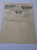 T615 / Facture EPICERIE ET DROGUERIE EN GROS - BARDIN GONTIER LAPOUYADE à ANGOULEME Charente - Invoices
