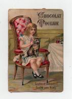 CHROMO Gaufrée Chocolat Poulain Enfant Fille Fillette Chat Fil Laine Fauteuil - Poulain