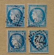 8 CERES N°60 AVEC VARIÉTÉS - 1871-1875 Ceres