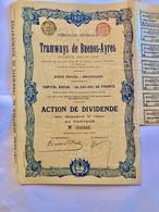 Cie  Gle  De  Tramways  De  Buenos -Ayres ---------Action  De  Dividende - Railway & Tramway