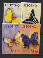 Lesotho - 2007 - N°Yv. 1900 à 1903 - Papillons / Butterflies - Neuf Luxe ** / MNH / Postfrisch - Schmetterlinge
