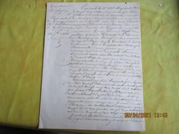 1853 Proces Verbal  Instituteur Et Arpenteur Sur Delimitation Terre A Saint Prix Avec Plan  Territoire De Maligny - Manoscritti