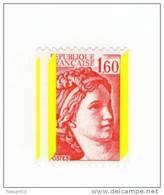Sabine 1fr60 Rouge De Roulette YT 2158b Avec 3 Bandes Phospho Par Décalage . Superbe , Voir Le Scan . Cote YT : 12 € . - Varietà: 1980-89 Nuovi