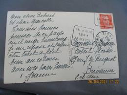 Daguin Val Isere 1850 Station Sportive Flamme Omec - 1921-1960: Modern Period