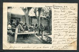80308 RUSSIA Asia Turkestan Tashkent Teahouse View Postcard 1913 Cancel To Revel Estonia - Russland