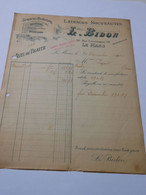 T628 / Facture Lainages L. BIDON - 20 Rue Courthardy - LE MANS - Invoices