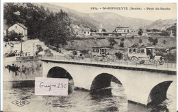 St HIPPOLYTE Pont Sur Le Doubs ( Vieilles Autos) - Saint Hippolyte