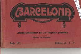 BARCELONE Carnet De 24 Cartes - Barcelona
