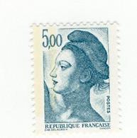 Liberté 5fr Bleu Vert YT 2190g Deux Bandes Phospho à Gauche + à Cheval . Voir Scan. Cote YT : 15 € Maury N° 2195h : 12 € - Varietà: 1980-89 Nuovi