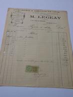 T630 / Facture M. LEGEAY - CONFISERIE & BISCUITS EN GROS - LAIGLE Orne - Invoices