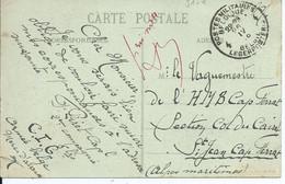 Zichtkaart Ardres Verstuurd In SM Naar HMB Col De Caire Cap Ferrat  Met Legerposterij 4 - Belgische Armee