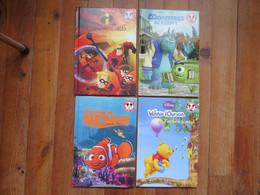 Lot De 4 BD De Disney    Le Monde De Némo, Winnie L'Ourson, Les Indestructibles, Monstres Académy - Bücherpakete